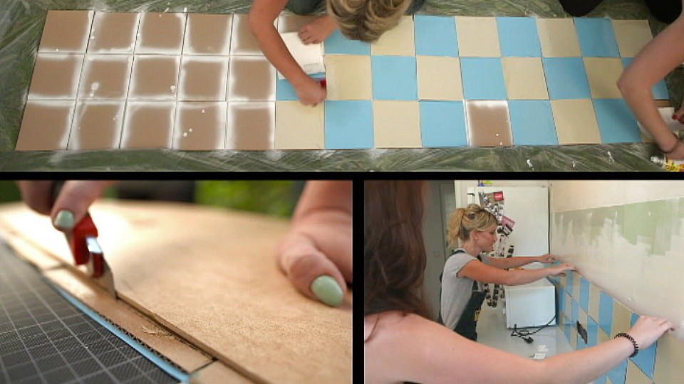 m belfolie wandteller pappfliesen do it yourself ideen f r die k che. Black Bedroom Furniture Sets. Home Design Ideas