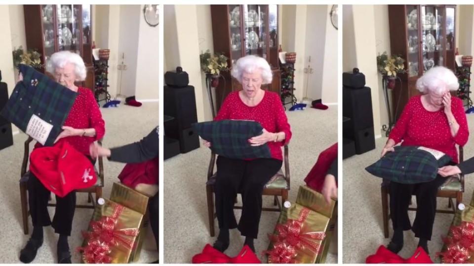 Sie bricht in Tränen aus: Enkelin macht Oma das schönste Geschenk