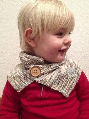 Schal stricken: Anleitung für einen Kinder-Neckwarmer