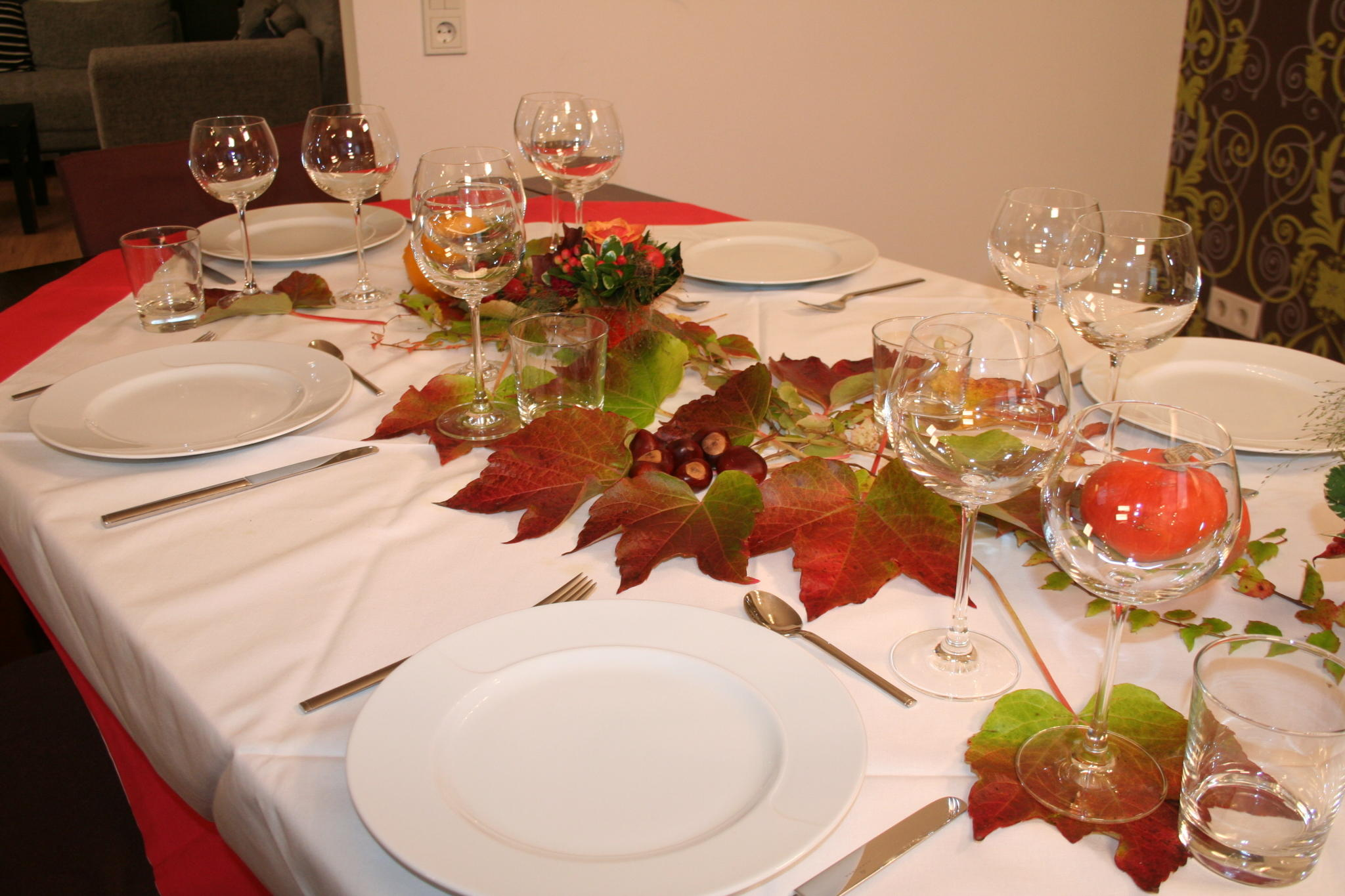 Blumendeko Herbst hübsche tischdeko ideen für den herbst
