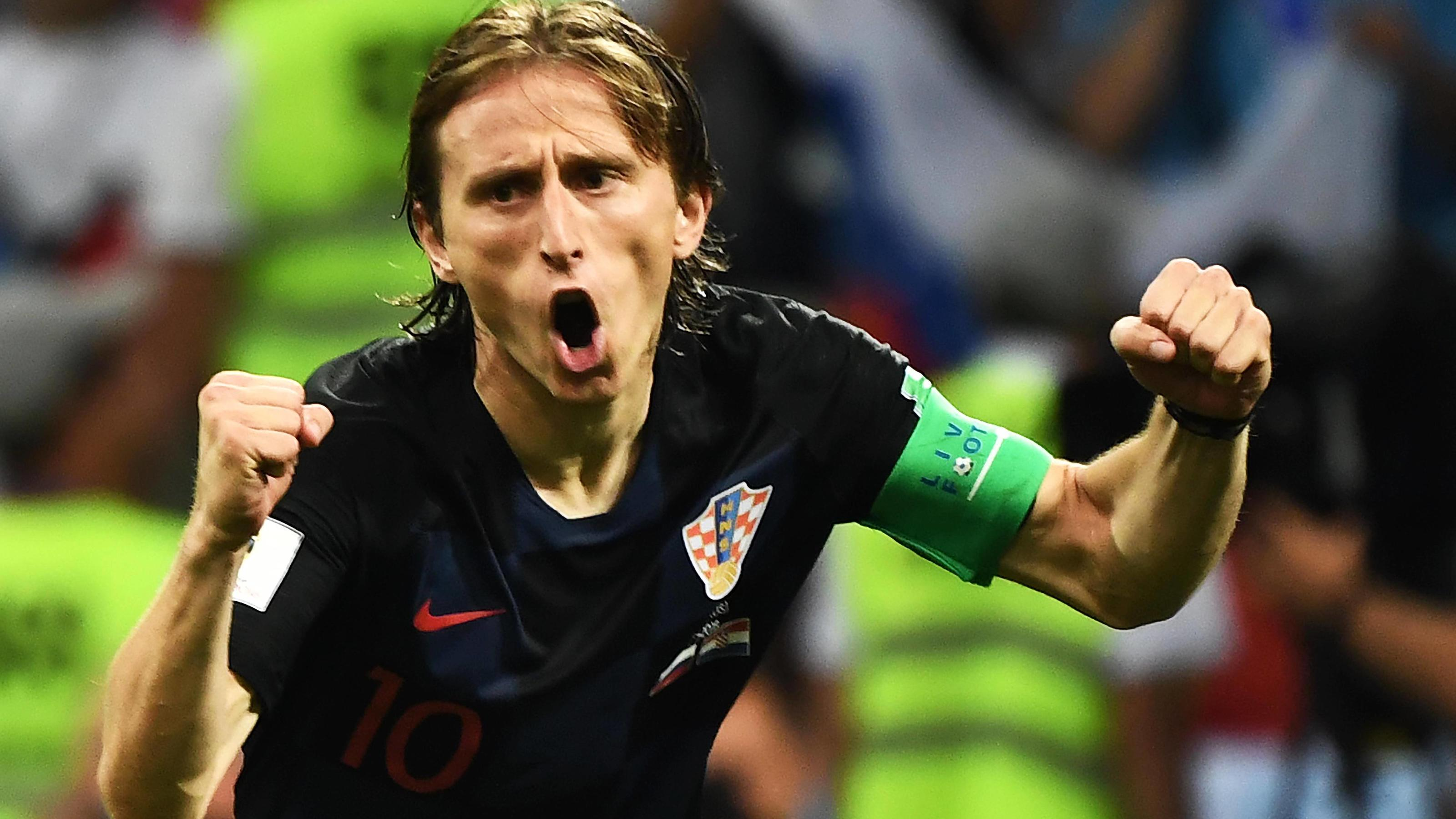 Luka Modric of Croatia reacts after scoring a penalty kick against Russia in their quarterfinal match during the 2018 FIFA World Cup WM Weltmeisterschaft Fussball in Sochi, Russia, 7 July 2018. Russia¡¯s 2018 World Cup is over. The hosts are out. The