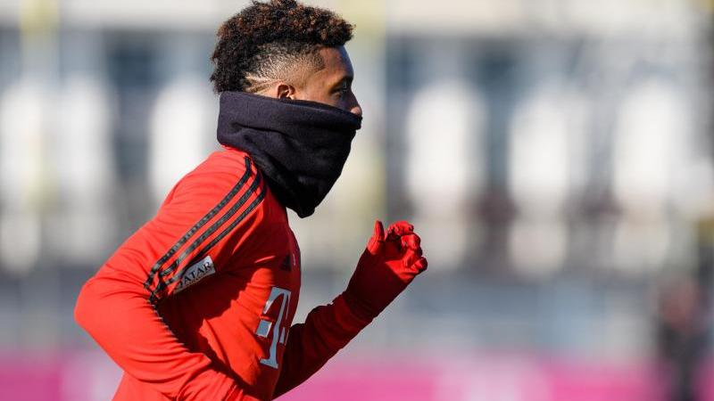 Kingsley Coman beim Training
