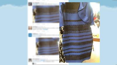 Kleid blau schwarz gold weib original