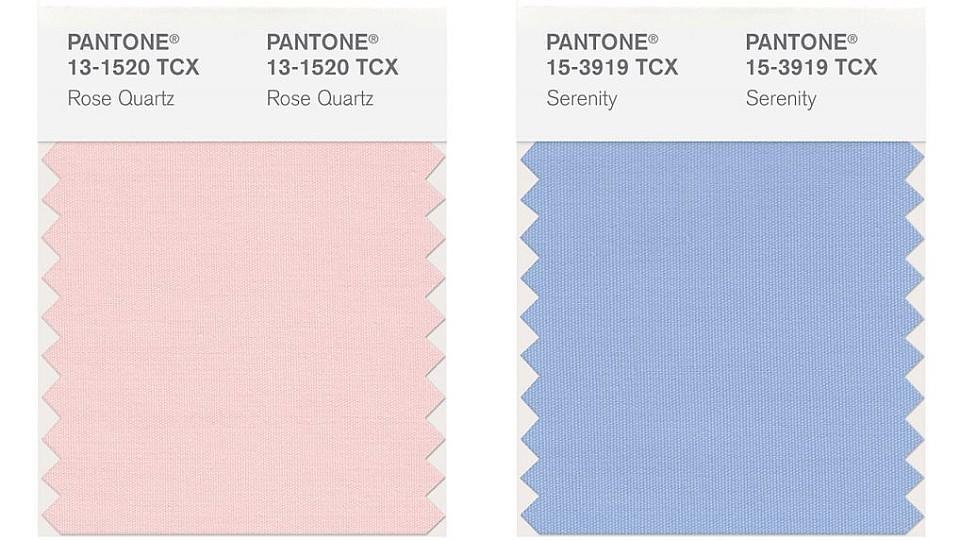 Pantone Trendfarben 2016 rose quartz' und 'serenity' sind die pantone-trendfarben 2016