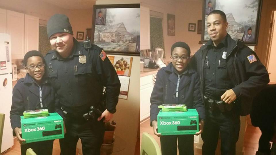 Rührende Geste nach Einbruch: So bringen Polizisten einem ...