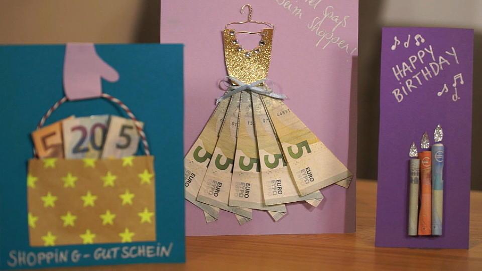 Geldgeschenke basteln - kreativ und einfach nachzumachen