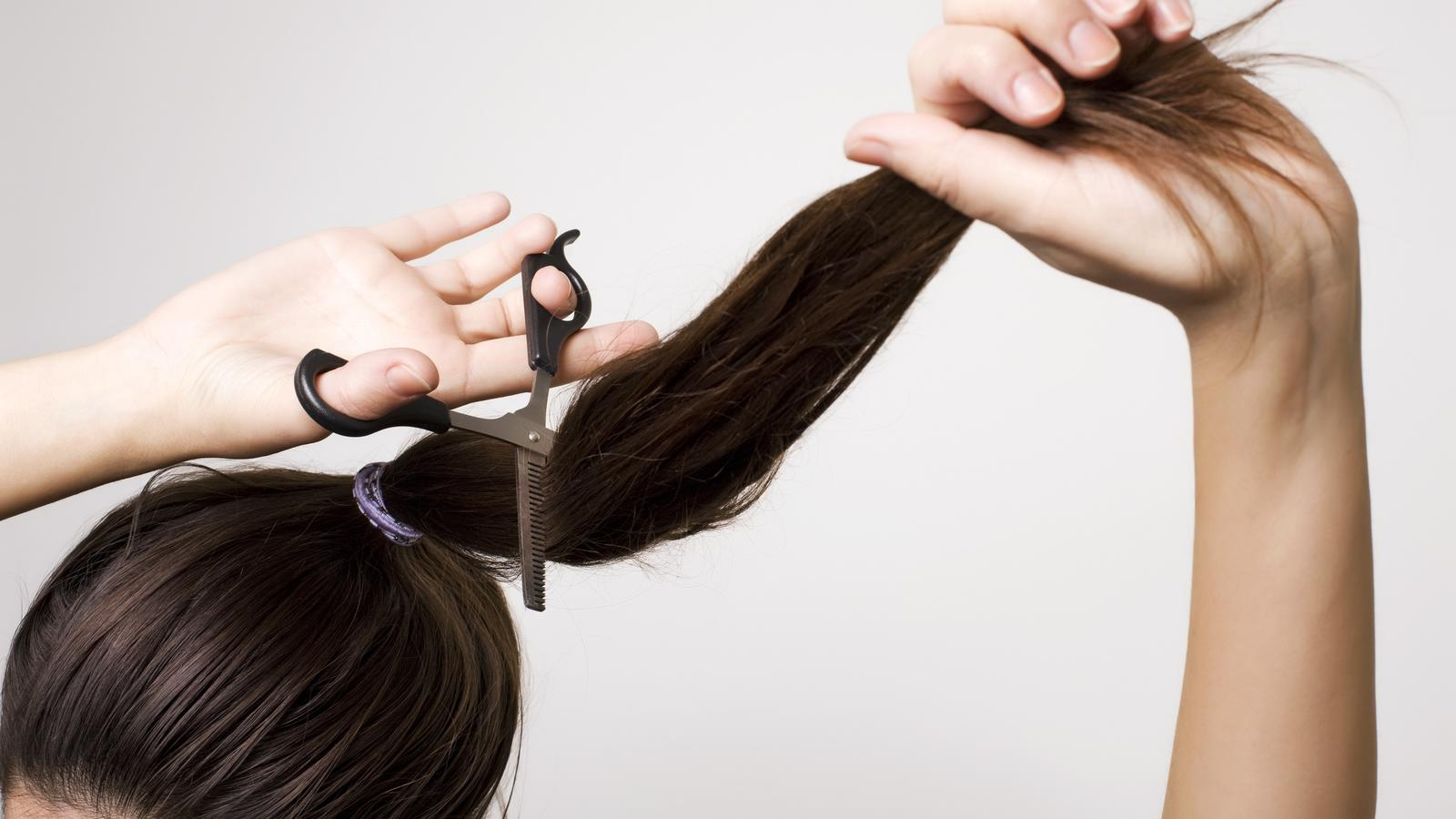 Selber Haare Schneiden Mit Dem Zopf Schnitt Gelingt Die