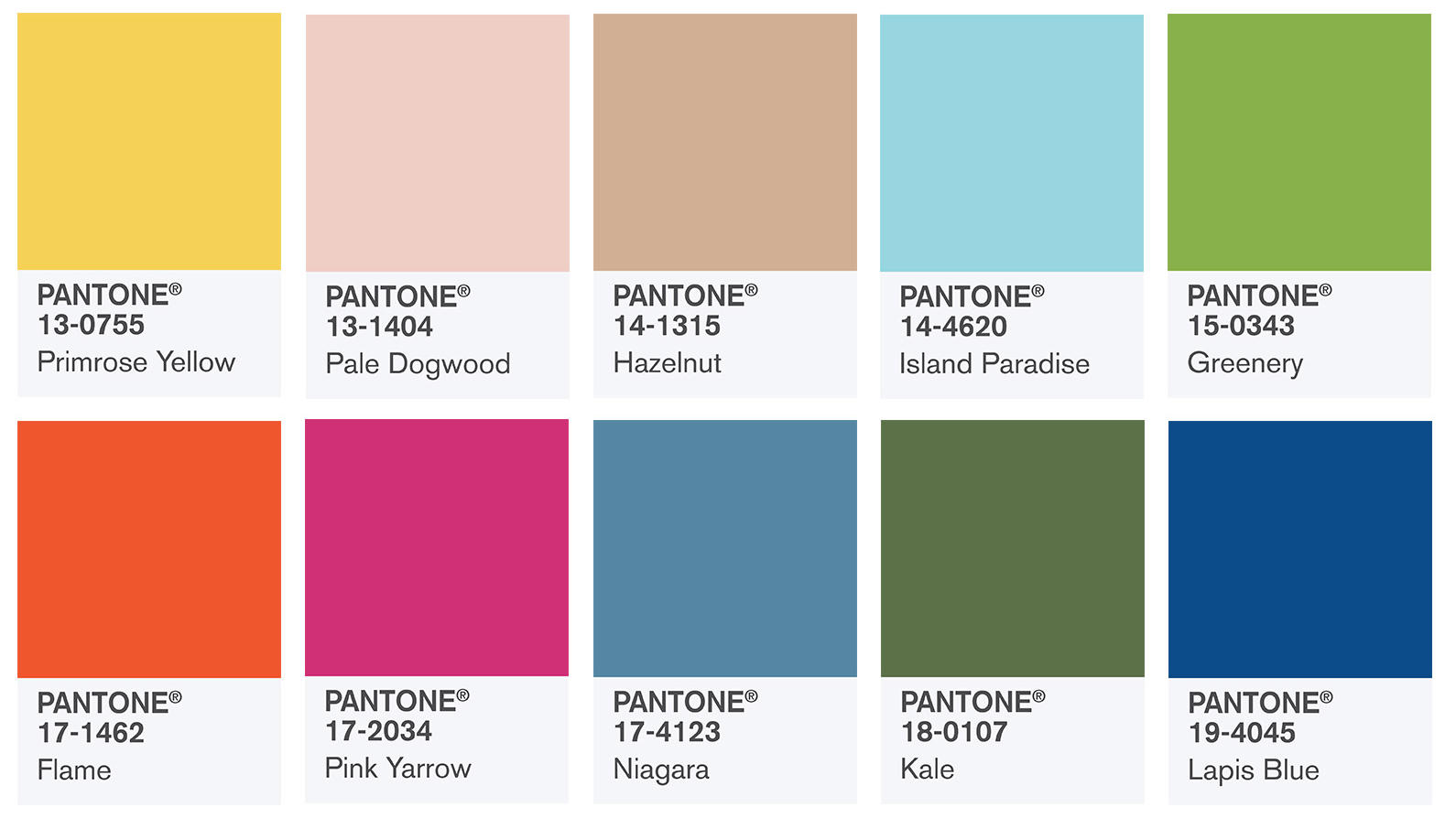 pantone farben 2017 island paradise pale dogwood flame. Black Bedroom Furniture Sets. Home Design Ideas