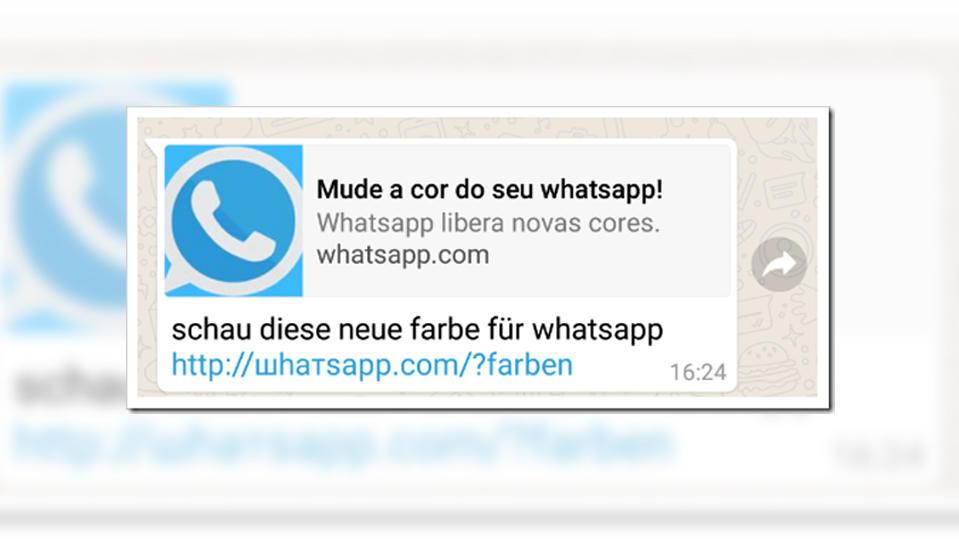 Neue Farbe für Whatsapp? Achtung, dieser Whatsapp-Kettenbrief ist ...