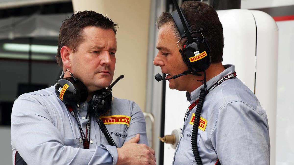 (L to R): Paul Hembery (GBR) Pirelli Motorsport Director with Mario Isola (ITA) Pirelli Racing Manager.20.04.2013. Formula 1 World Championship, Rd 4, Bahrain Grand Prix, Sakhir, Bahrain, Qualifying Day- www.xpbimages.com, EMail: requests@xpbimages.c