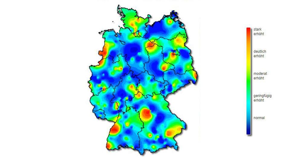 grippe karte Karte Grippe | creactie