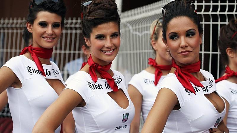 Grid girls.27.05.2012. Formula 1 World Championship, Rd 6, Monaco Grand Prix, Monte Carlo, Monaco, Race Day- www.xpbimages.com, EMail: requests@xpbimages.com - copy of publication required for printed pictures. Every used picture is fee-liable. © Cop