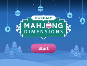 Holiday Mahjong Dimensions - Screenshot