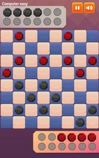 Two-Player Checkers (Dame) - Screenshot