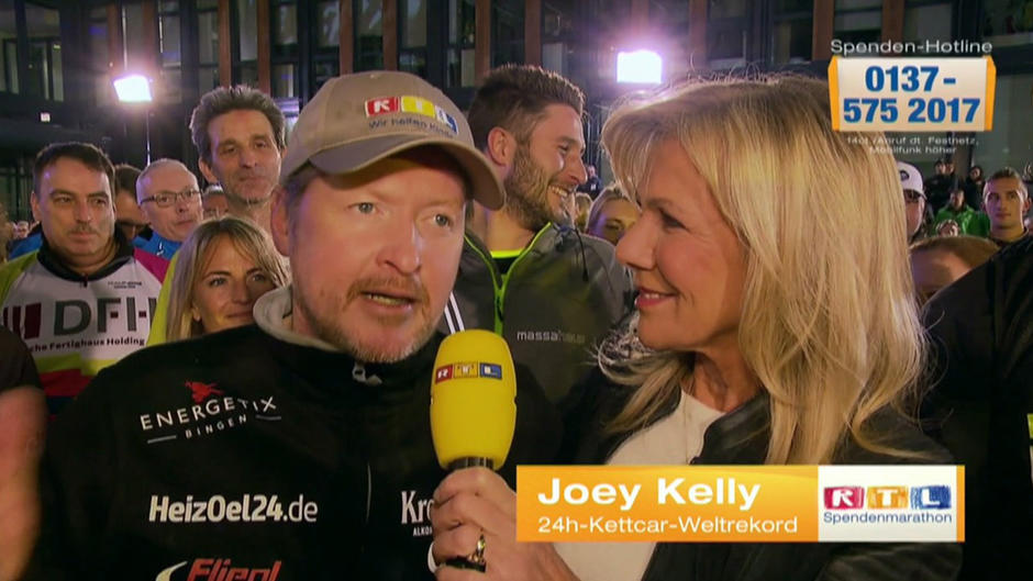 Joey Kelly holt den Weltrekord