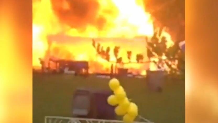 Gasflasche Für Gasgrill Lagern : Heftiges video aus chicago hier explodiert ein gasgrill