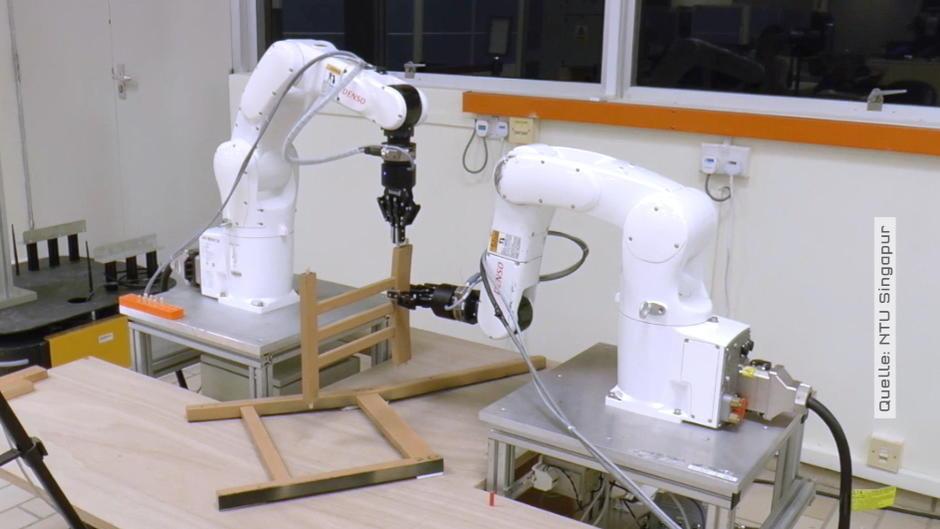 roboter setzt stuhl zusammen nie wieder ikea m bel aufbauen. Black Bedroom Furniture Sets. Home Design Ideas