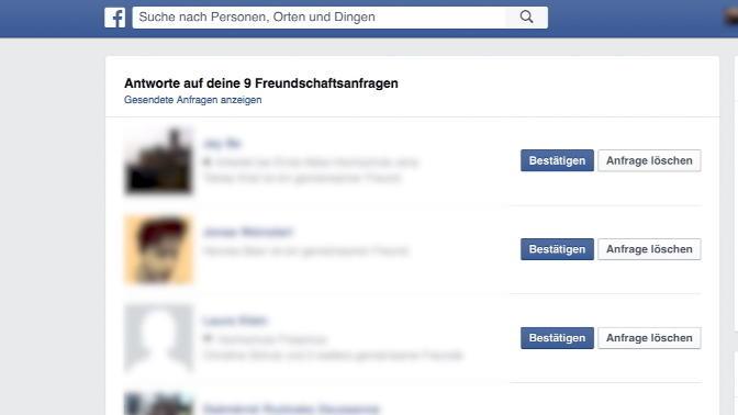 Nicht sichtbar freundschaftsanfrage facebook Facebook, Freundschaftsanfrage