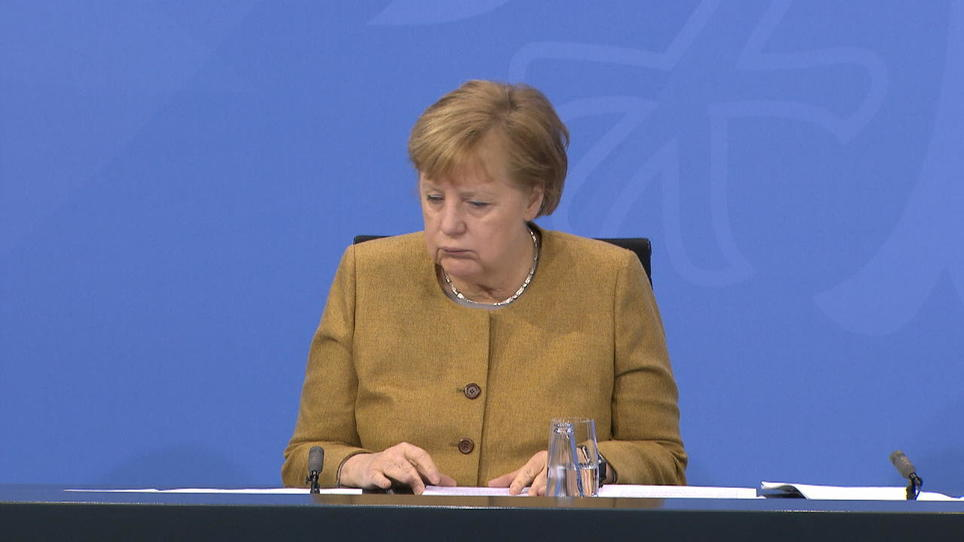 Angela Merkel entfällt das H der AHA-Regeln