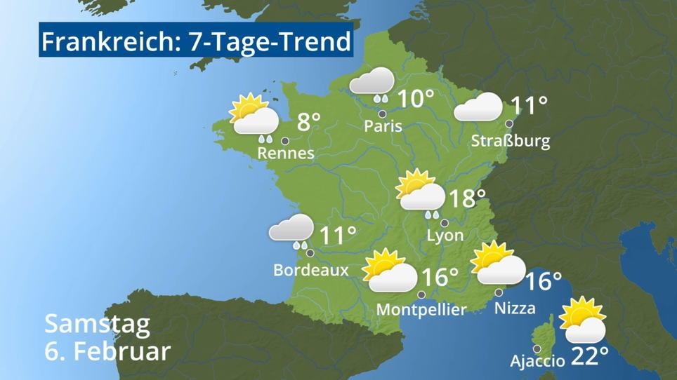 Wetter Bordeaux 16 Tage